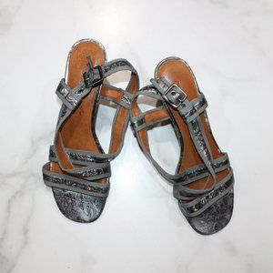 Gentle Souls by Kenneth Cole Metallic Sandals
